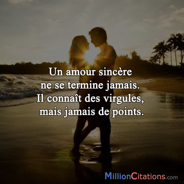 citation amour sincere